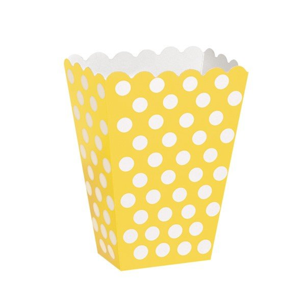 Unique Party Dots Treat Boxes - Yellow