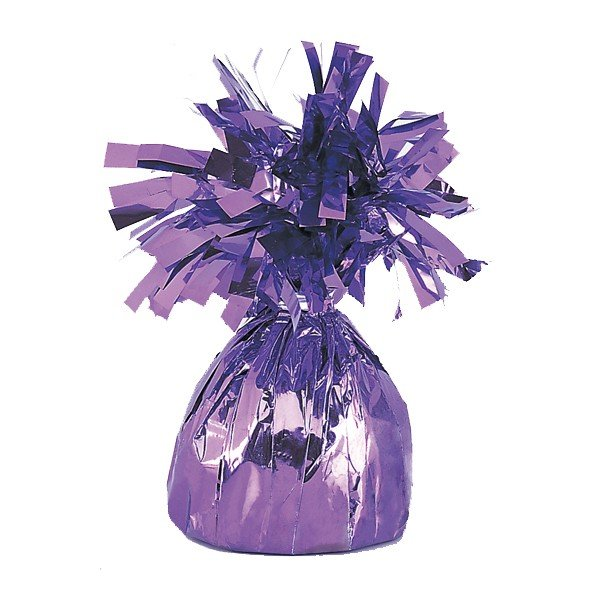 Unique Party Foil Tassels Balloon Weight - Lavender