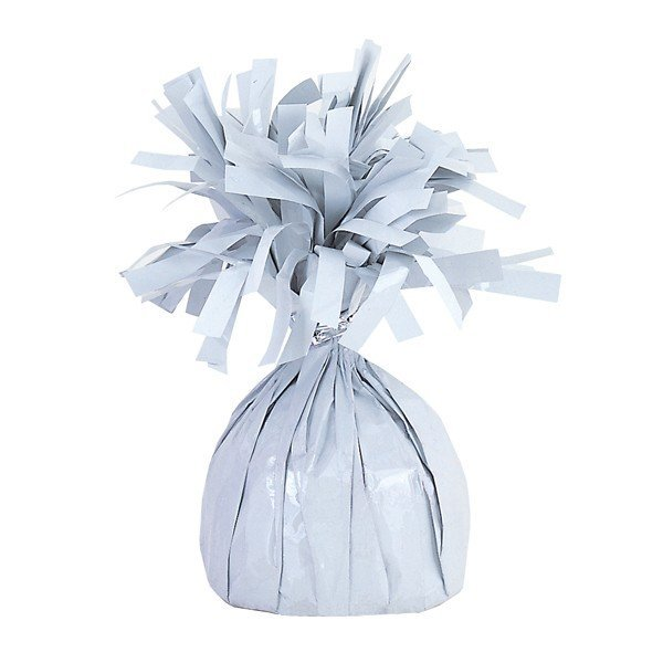 Unique Party Foil Tassels Balloon Weight - White