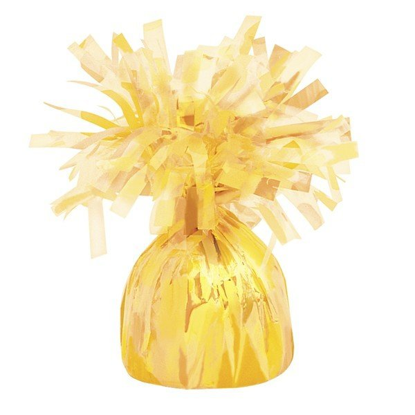 Unique Party Foil Tassels Balloon Weight - Yellow