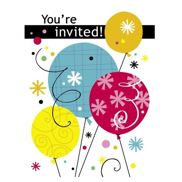 Unique Party Invites - Breezy