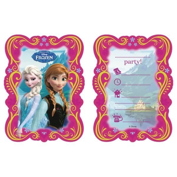 Unique Party Invites & Envelopes - Frozen