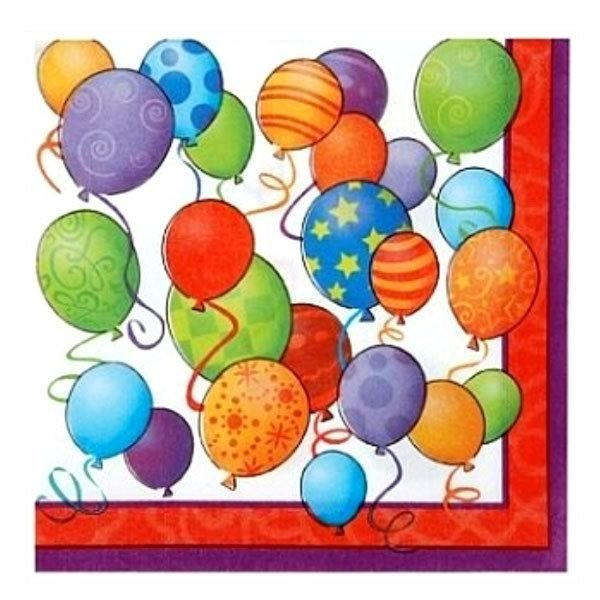 Unique Party Lunch Napkins - Birthday Balloons