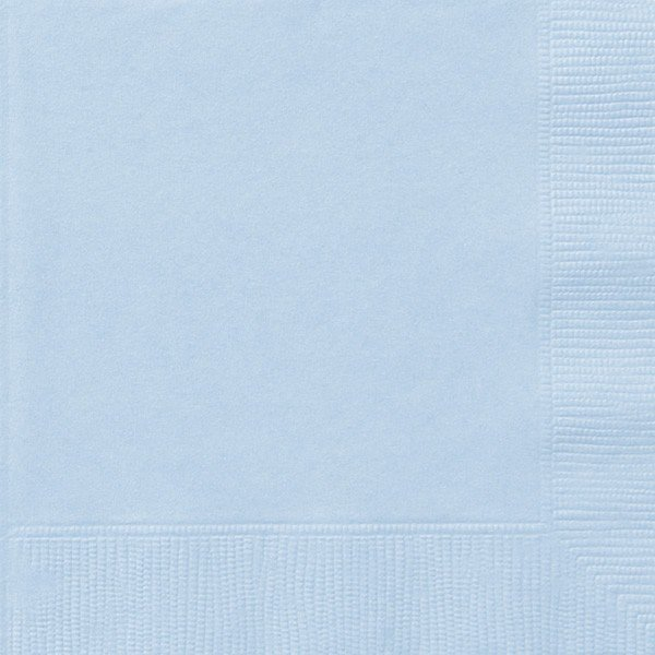 Unique Party Napkins - Baby Blue