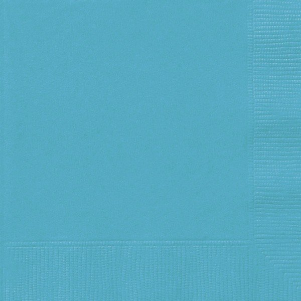 Unique Party Napkins - Carribean Teal