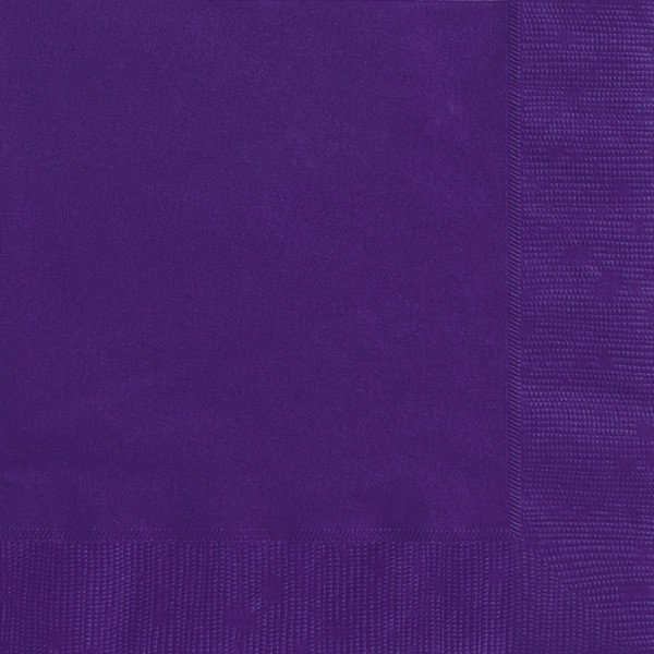 Unique Party Napkins - Deep Purple