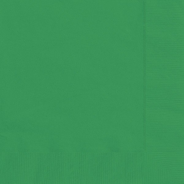 Unique Party Napkins - Emerald Green