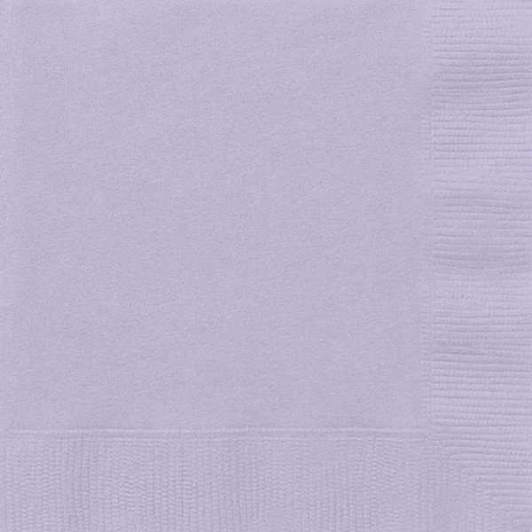 Unique Party Napkins - Lavender