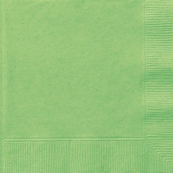 Unique Party Napkins - Lime Green