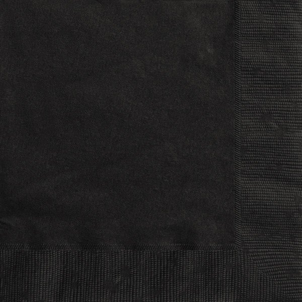 Unique Party Napkins - Midnight Black