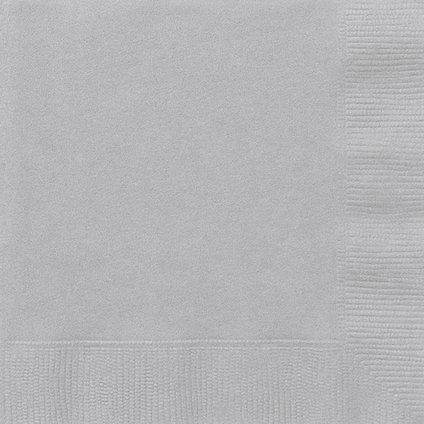 Unique Party Napkins - Silver