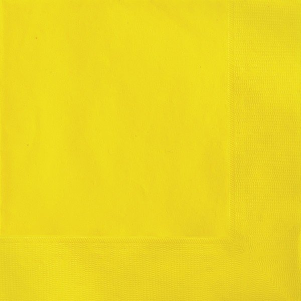 Unique Party Napkins - Yellow