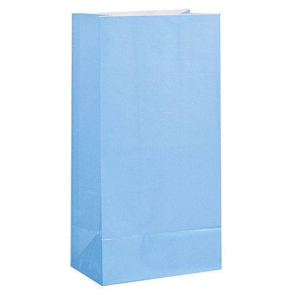 Unique Party Paper Party Bags - Baby Blue