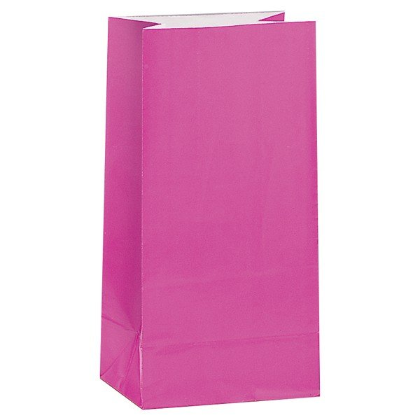 Unique Party Paper Party Bags - Hot Pink