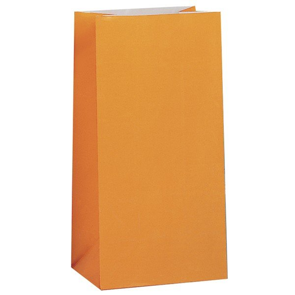 Unique Party Paper Party Bags - Orange