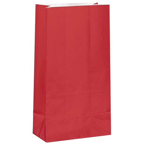 Unique Party Paper Party Bags - Ruby Red
