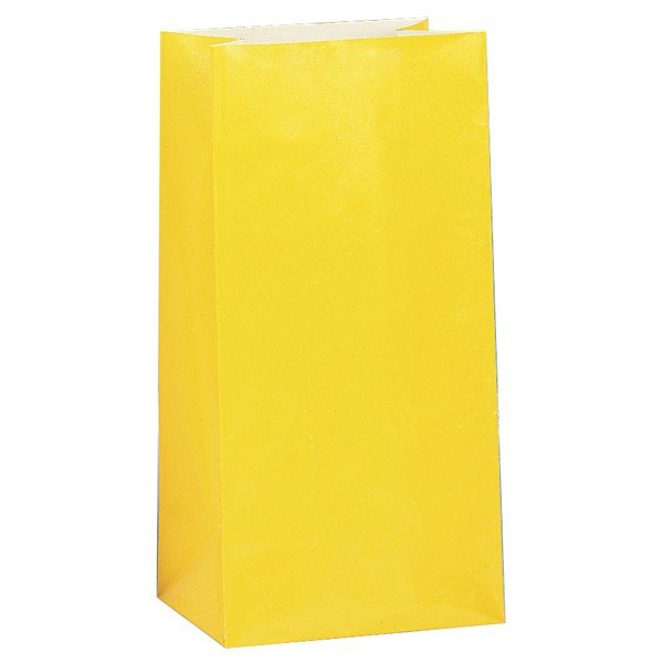 Unique Party Paper Party Bags - Yellow