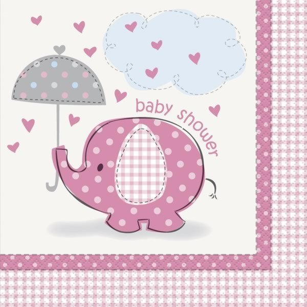 Unique Party Pink Lunch Napkins - Umbrellaphants