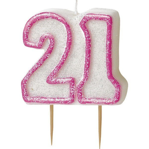 Unique Party Pink Number Candle - 21