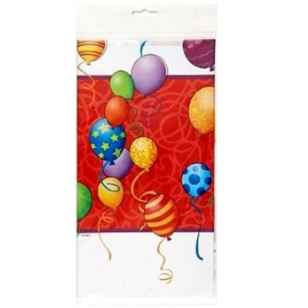 Unique Party Plastic Tablecover - Birthday Balloons