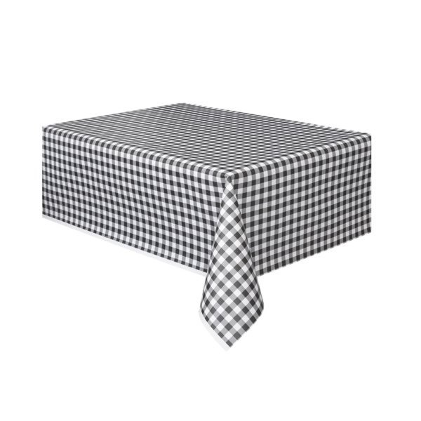 Unique Party Tablecover - Black Gingham