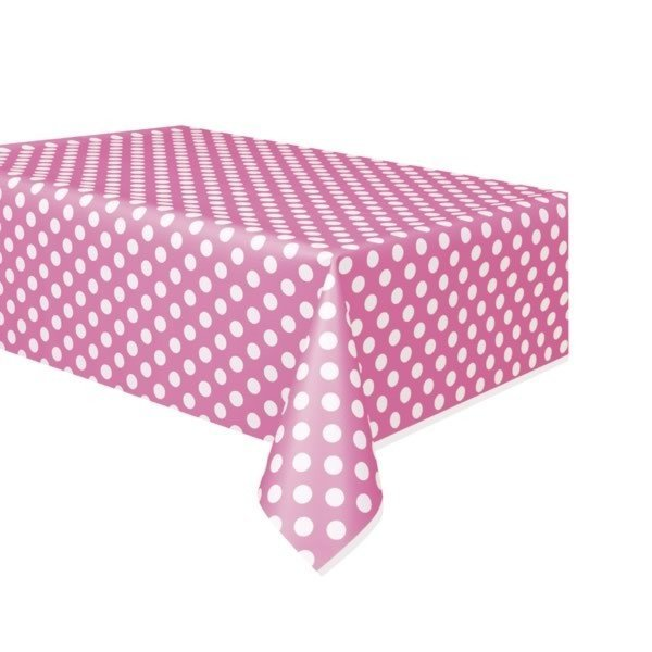 Unique Party Tablecover - Hot Pink Dots