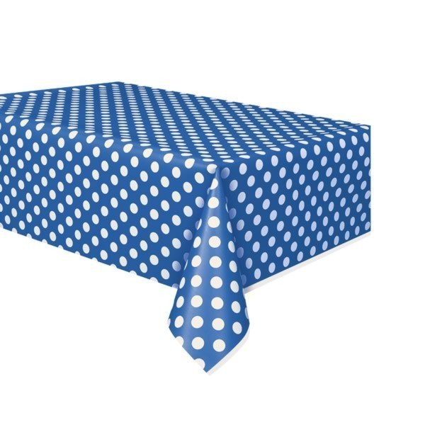 Unique Party Tablecover - Royal Blue Dots