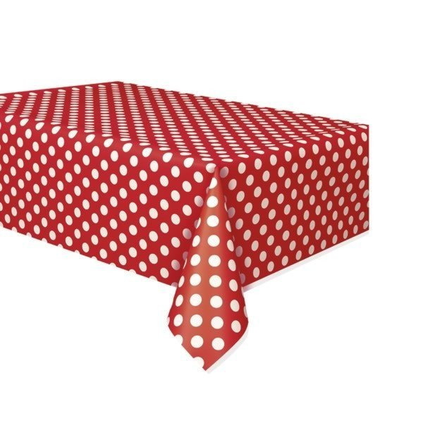 Unique Party Tablecover - Ruby Red Dots