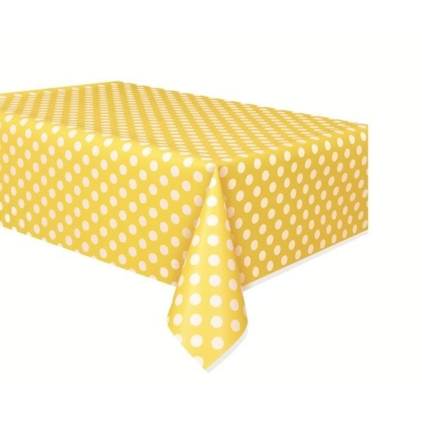 Unique Party Tablecover - Yellow Dots