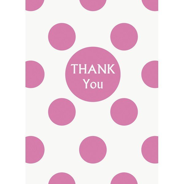 Unique Party Thank You Notes - Hot Pink Dots