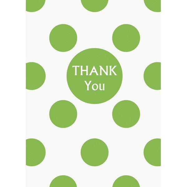 Unique Party Thank You Notes - Lime Green Dots