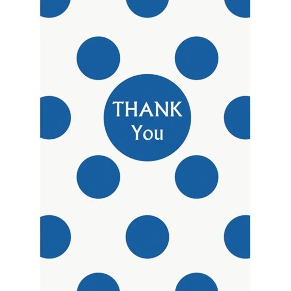 Unique Party Thank You Notes - Royal Blue Dots