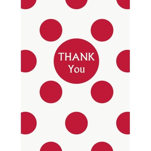 Unique Party Thank You Notes - Ruby Red Dots