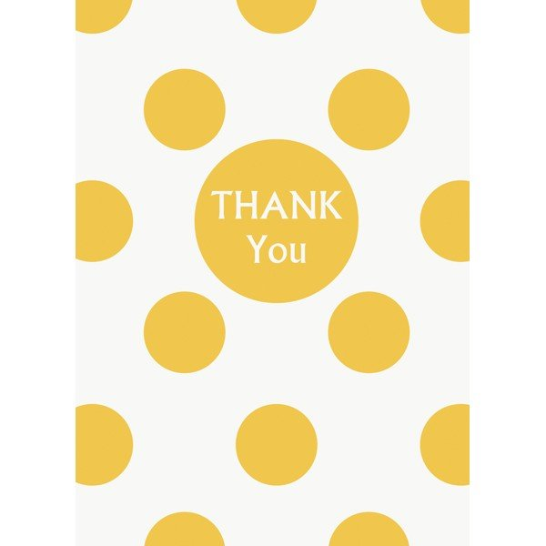 Unique Party Thank You Notes - Yellow Dots