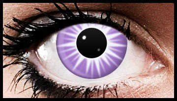 Violet Ice Spikes Crazy Coloured Contact Lenses (90 days)