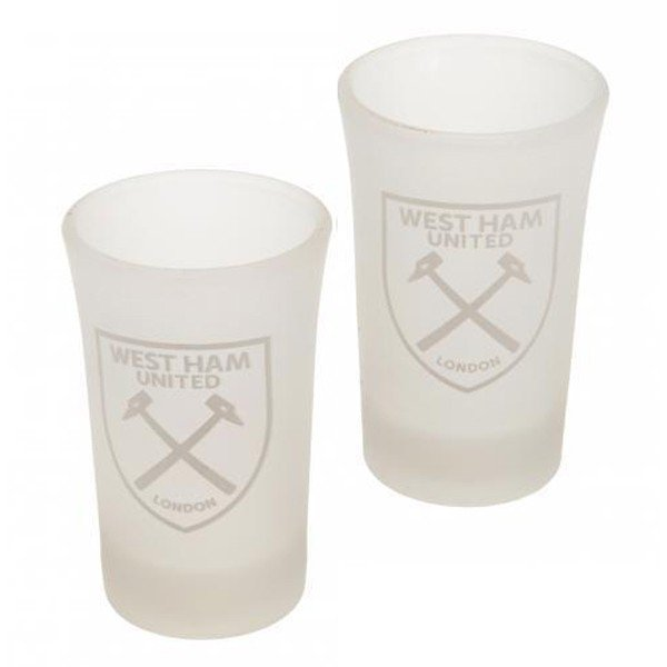 West Ham 2Pk Frosted Shot Glass