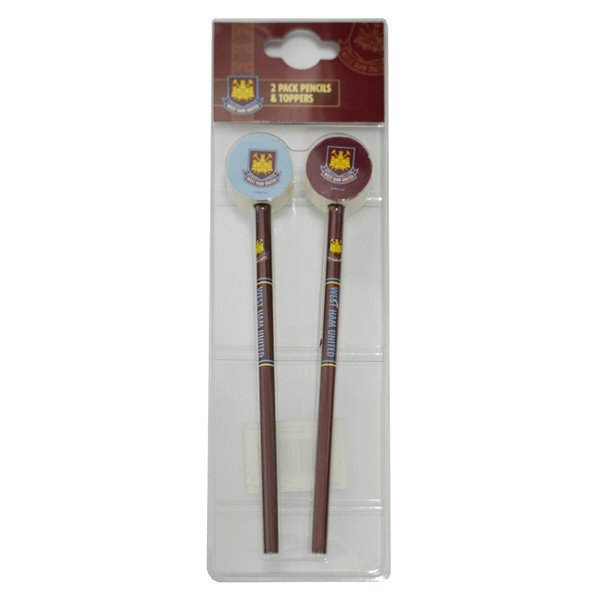 West Ham Big Logo 2PK Pencil and Topper Set