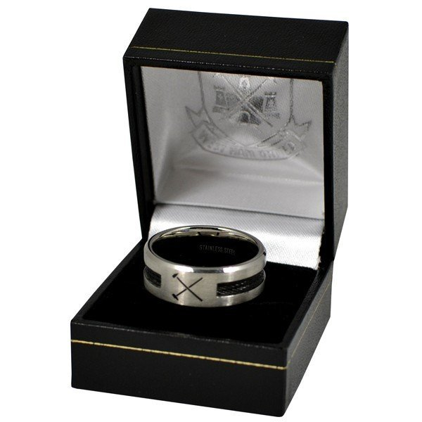 West Ham Black Inlay Ring - Small