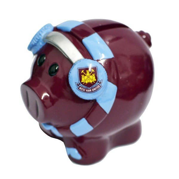 West Ham Cold Scarf Piggy Bank