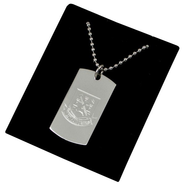 West Ham Crest Dog Tag & Chain