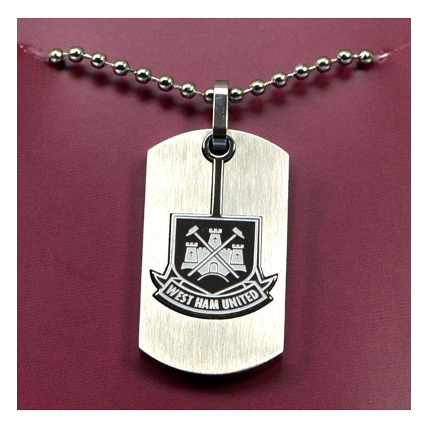 West Ham Cut Out Dog Tag & Chain