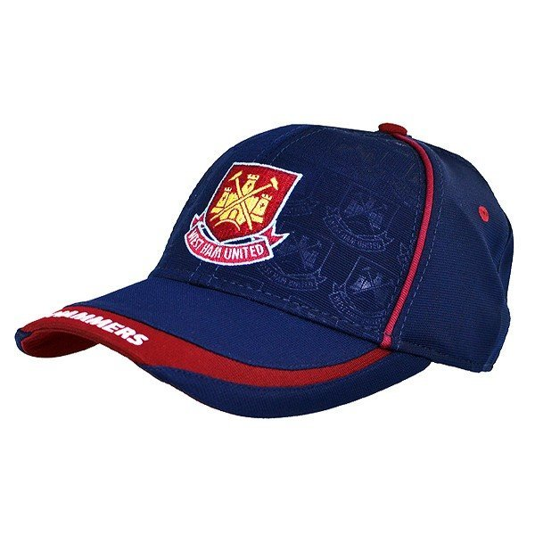 West Ham Debossed Baseball Cap - Navy