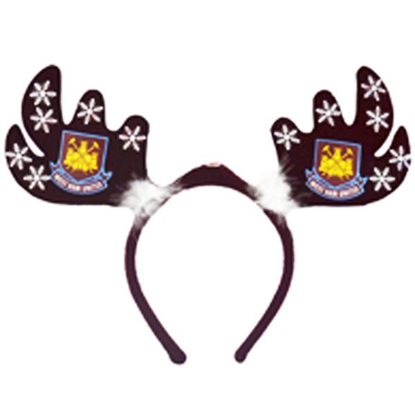 West Ham Flashing Xmas Antlers Headband