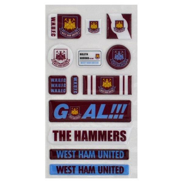 West Ham Fun Bubble Sticker Set