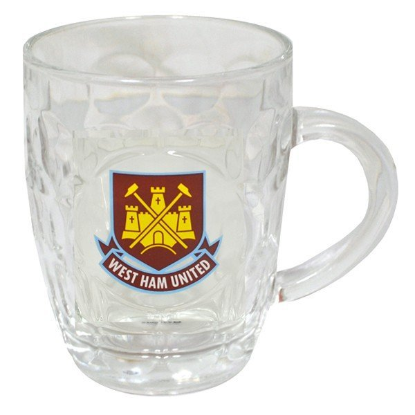 West Ham Glass Tankard