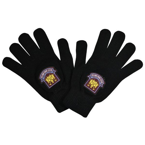West Ham Knitted Gloves - Black