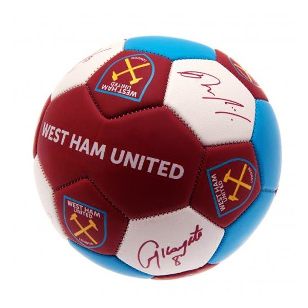 West Ham Nuskin Signature Football - Size 3