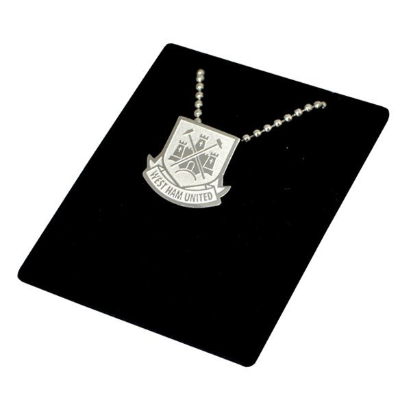 West Ham Stainless Steel Crest Pendant/Chain