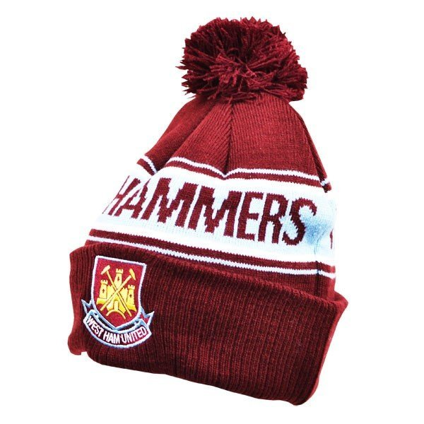 West Ham Text Cuff Knitted Hat