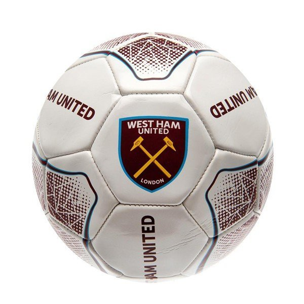 West Ham White Prism Football - Size 5